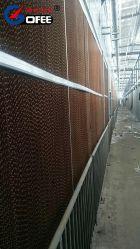 Fuerte y mejor autosuficiente de papel marrón húmedo almohadilla de refrigeración de cortina
