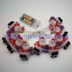 Indicatore luminoso Pendant all'ingrosso della stringa della decorazione LED il Babbo Natale di natale della Cina