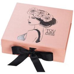Farbe kundenspezifischer faltender Geschenk-verpackenkasten mit veränderbarem Farbband