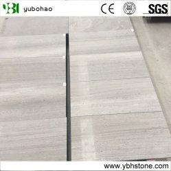 床、タイル、モザイク用の白い木製の葉脈の大理石 / 木製の穀物の大理石