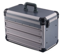 حقيبة أدوات احترافية من الألومنيوم مع إطار من الألومنيوم المتين