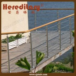 Diseño exterior de acero inoxidable pasamanos para la barra de Rob balcón (SJ-H026)