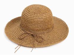 Chapéus de Sol Dobrável disquete Papel Grosso Crochê Ráfia Chapéu de Palha de cowboy Beach