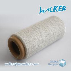 Cardar el extremo abierto de hilo blanco crudo hilados hilados de algodón reciclado para el trabajo Guante tejido