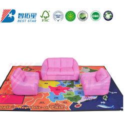 革は養樹園の家具、現代ホーム家具および居間のソファー、子供の運動場の家具、幼稚園および幼稚園のデイケアの中心のソファーをからかう