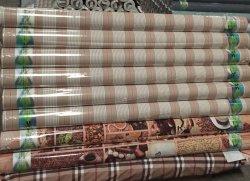 Het Tafelkleed van pvc met de Steun van de Stof van de Polyester