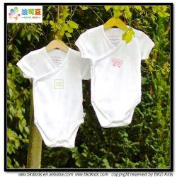 Papel branco Bebé Jantes Kimono Onesie Bebê Estilo de Desgaste