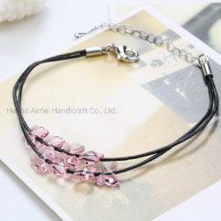 Armband Aus Modeleder Mit Bezauberndem Kristall-Schmetterling Und Armband Accessoires