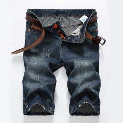 Bouton Stock faible MOQ Fly court pour hommes denim Jeans