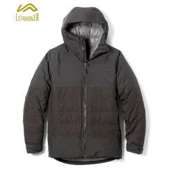 Rivestimento di inverno del Mens del cappotto riempito chiusura lampo calda di alta qualità con il cappuccio