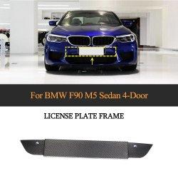 BMW F90 M5 4 문 2018-2019년을%s 탄소 섬유 번호판 프레임