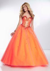 Quinceanera Moda 2020 vestidos de tul Cordón Prom vestido fiesta vestido de bola de noche