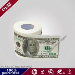 USD Dollar Rollo de papel impreso/ Funny dinero Cambio de rollo de papel higiénico