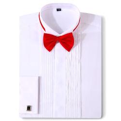 남자 턱시도 결혼 예복 프랑스 커프스 단추 Swallowtail 겹 신사 셔츠
