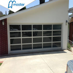 Commerce de gros de l'Aluminium Verre 16X7 Les frais généraux de portes de garage