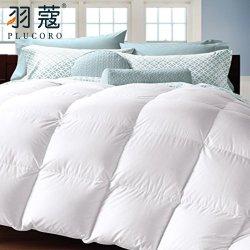 China Fornecedor Hotel edredons de penas de ganso branco colcha de algodão