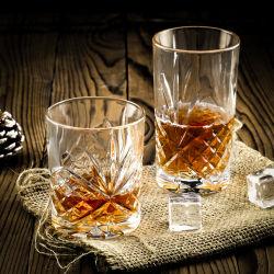 قديم - يكيّف وسكي زجاج صخورة [برور] لأنّ [سكتش], [بووربون], شراب وكوكتيل شراب