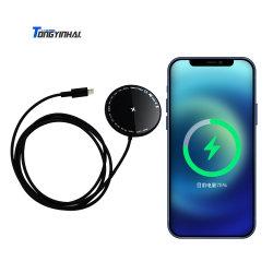 Tongyinhai 도매 RoHS 표준 지능적인 휴대용 인조 인간 iPhone 이동할 수 있는 셀룰라 전화 보편적인 빠른 충전기는 자석 최고 빠른 Qi 무선 충전기 전화를 놓았다