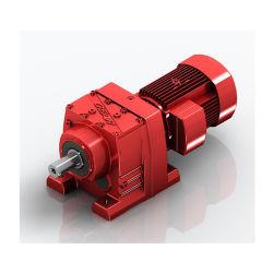 Moto reductor helicoidal en línea Caja de engranajes reductor de velocidad de la Serie R