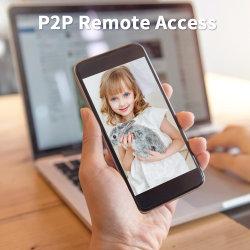 Dôme PTZ sans fil IP caméra de sécurité CCTV travaux de surveillance vidéo avec 2E27 Lampe MP WiFi Tuya vie intelligente
