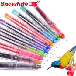 Office pen 10 kleuren Dybease inkt duurzame Staionless Tip Metal Clip Free Ink System Roller Ball pen