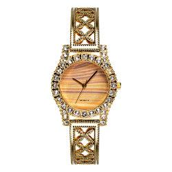 Diseño de diamantes de lujo reloj con Metal Bangle Bracelet para damas