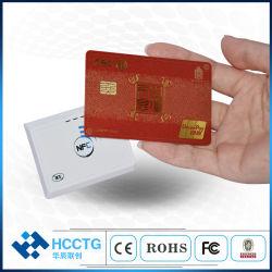 Grabadora de lectores RFID Bt Android de gama larga inalámbrica NFC Lector de tarjetas 13,56 MHz ACR1311u-N2