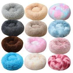 Super Macio Dog Bed Round Longo lavável Plush Tapetes de Cão Gato House Portable sofá com Esteiras