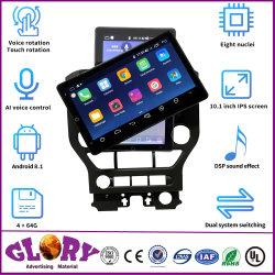 Veicolo del mustang del Ford con schermo rotativo di percorso di GPS di controllo di voce di Ai di 10.1 pollici il grande