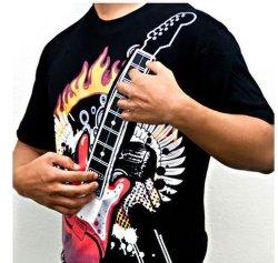 Elektronisches Felsen-Gitarren-Hemd