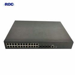 Nieuw industrieel L3 beheerd optisch netwerk LAN 24 48 PoE PoE+-poortswitch 10/100/1000 Mbps Gigabit