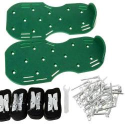 1개 크기는 모든 Unassembled 원예용 도구 옥외 잔디 수동 잔디밭 통풍장치 스파이크 단화를 적합하다