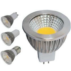 Bombilla LED spot de la COB MR16 GU10 6W regulable de 9W 12W 220V AC12V LED Spotlight