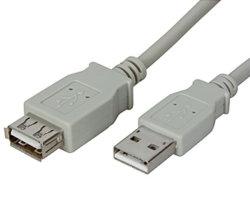 USB de alta velocidade 2.0 macho para fêmea do cabo de extensão