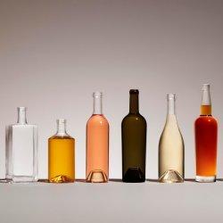 Amostras gratuitas rótulo personalizado logo Super Flint água bebida vazia Sumo de leite vinho Liquor Whisky Vodka Brandy 200 ml 500 ml 750 ml Frasco de vidro
