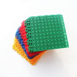Wane PP의 최고 품질의 사설 금형 연동 모듈식 농구 여러 가지 색상으로 꾸며진 법정 타일이 있습니다