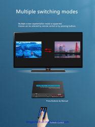 مقسم شاشة HDMI 4 في 1 دخل صورة سلس توليف الصورة رباعي الاتجاهات Switcher