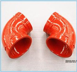 Дуктильное Iron Grooved Fitting 90 степень Elbow с FM/UL/Ce Approval