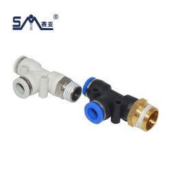 3개의 방법 공기 이음쇠 빠른 연결관 압축 공기를 넣은 이음쇠를 결합하는 Pd T 유형 측 수나사 티