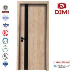 غرفة زجاجية خشبية مزدوجة عالية الجودة ذات باب مصبوب HDF البشرة