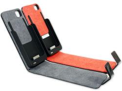 حقيبة بطارية احتياطية من الجلد من طراز PowerBank Station من الجلد طراز Genius لجهاز iPhone طاقة محمولة/محمولة من الجيل الرابع