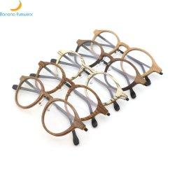 À la mode de haute qualité châssis Optique Lunetterie en bois rond prêt à expédier