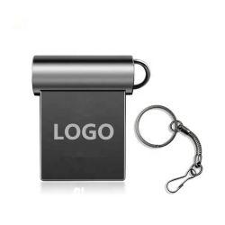 محرك أقراص Super Mini Metal USB Flash سعة 4 جيجابايت وسعة 8 جيجابايت وسعة 32 جيجابايت قلم صغير سعة 64 جيجابايت مزود بذاكرة، 128 جيجابايت، قلم قرص صغير من نوع U السائق
