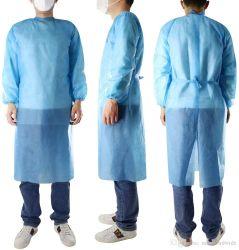 판매 PPE 안전 한 벌 수준 3 격리 가운을%s 주식에 있는 처분할 수 있는 강화된 검사 비 길쌈된 외과 SMS 가운