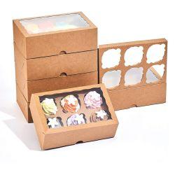 حزمة هدايا مخصصة مطبوعة بشكل مخصص ومخصصة قابلة لإعادة الاستخدام على شكل نوافذ علب كيوكيوكيك ورقية مع قطع