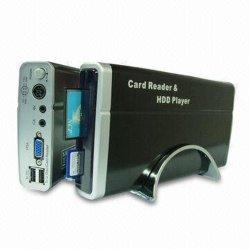 Reproductor de disco duro de 3,5 pulgadas con lector de tarjetas USB Host y funciones, es compatible con sistema PAL y NTSC