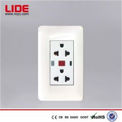 250V 16A Protección contra fugas multifunción fijo toma para electrodomésticos
