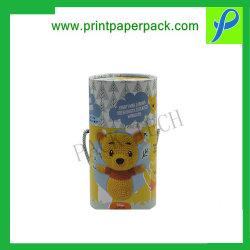 맞춤 럭셔리 크래프트 라운드 햇 경식 종이 상자, 판지 보석 선물 포장 상자, 차/커피/레드 와인/꽃/캔디 초콜릿용 튜브 포장 상자