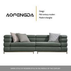 Piccola combinazione di cuoio estremamente semplice di cuoio semplice moderna del sofà di stile dell'Italia di arte di Huxing del sofà della testa di strato del salone di cuoio della pelle bovina