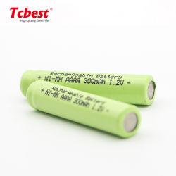 Tamanho AAA de 1,2V 300mAh Ni-MH bateria recarregável para telefone sem fios